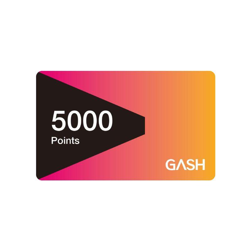 Gash Point 5000點 【經銷授權 APP自動發送序號】