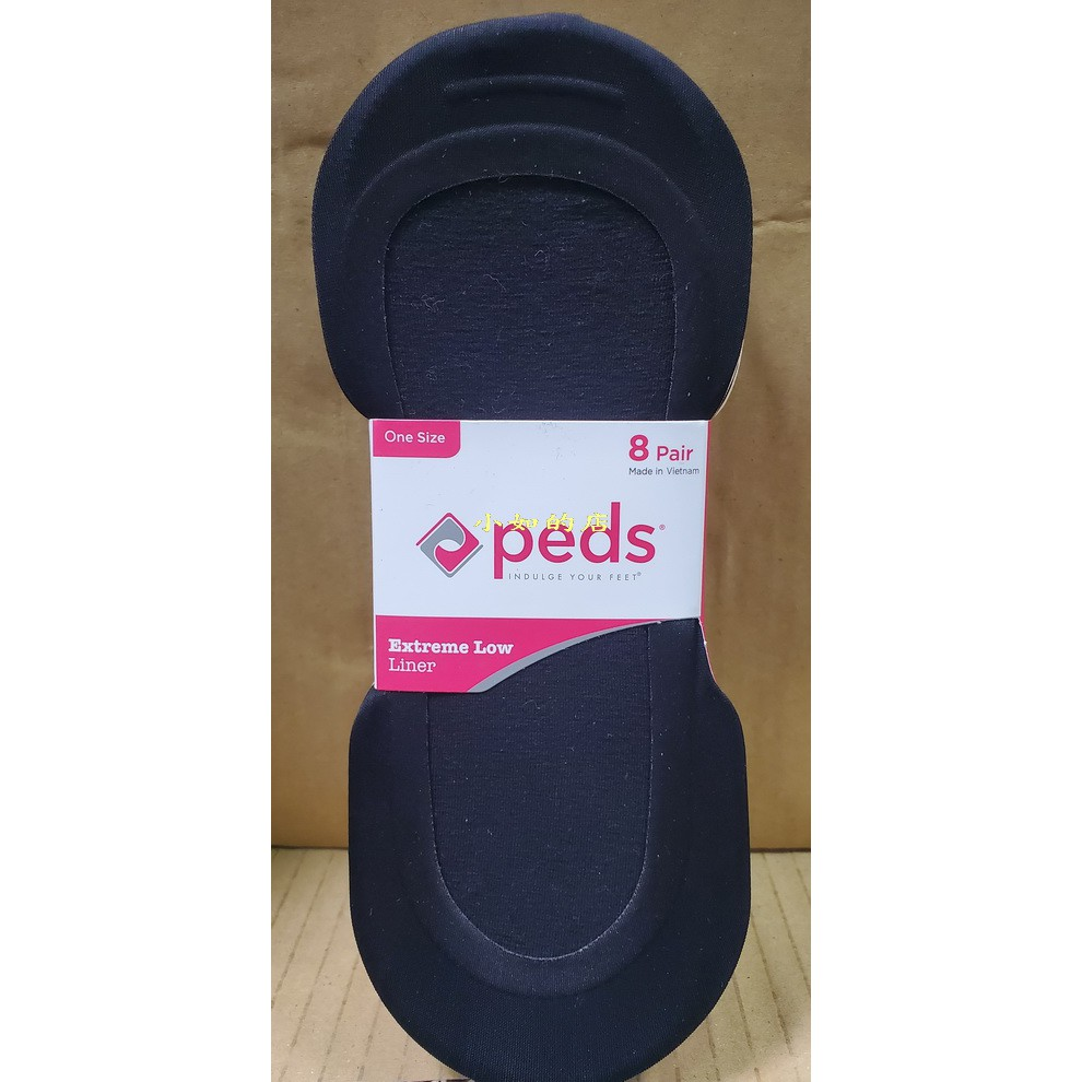 【小如的店】COSTCO好市多代購~PEDS 女船型襪/船型絲襪/隱形裸襪-黑色+膚色(每組8入)