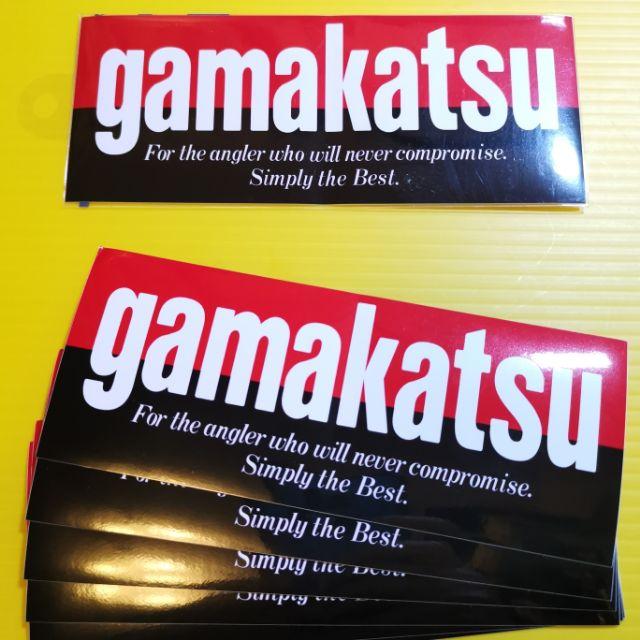 🎌正日本原裝gamakatsu名牌釣具抗UV防水經典貼紙(15.3*6.2公分)