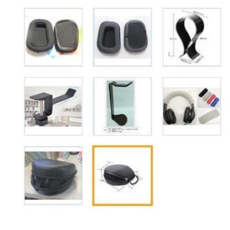 Logitech 羅技 G231 G633 G933s G533 G433 G233 用耳罩 收納盒 耳機架 針織頭樑套