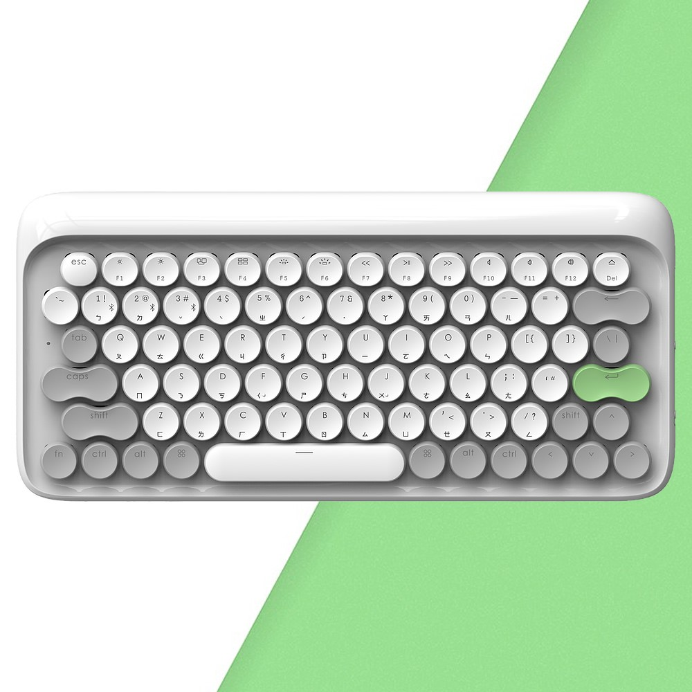 LOFREE 打字機鍵盤 全球限定注音版 (春 / 白)<現貨><免運>