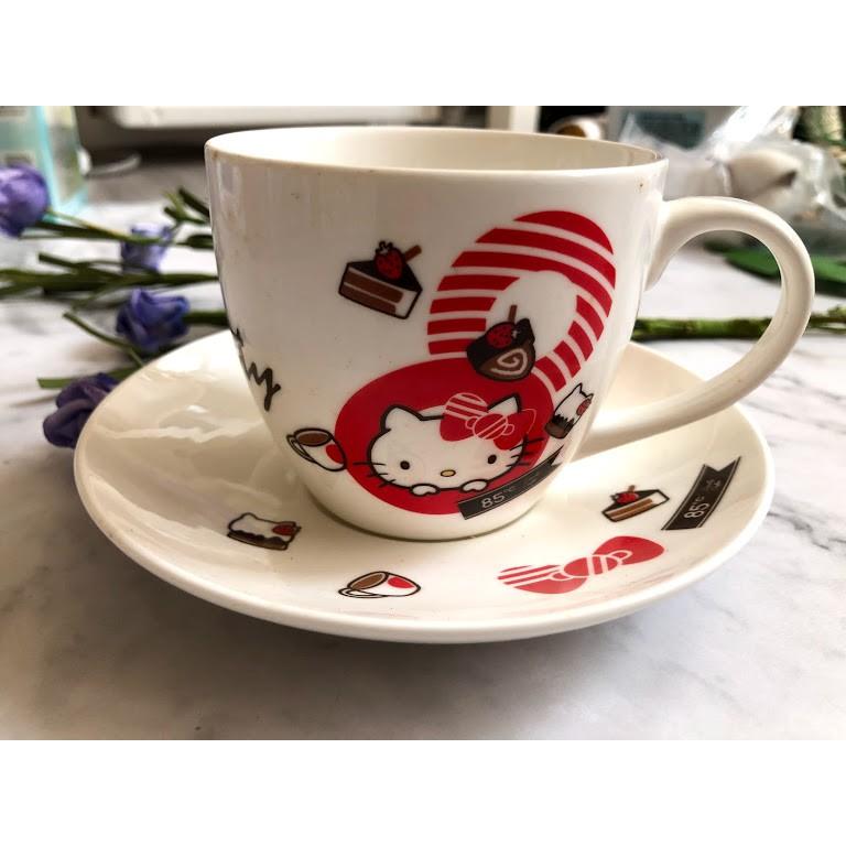 【85度C 】Hello kitty 咖啡杯盤組/馬克杯