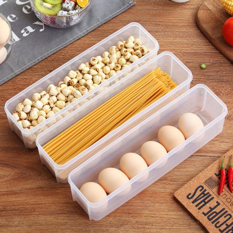 現貨!长条形 薄型保鮮盒 薄型收納盒 冰箱收納 食物分裝 分裝收納 食物收納 冷凍保鮮盒 日本主婦 好市多分