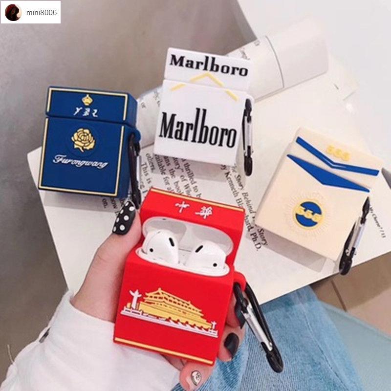 鄰鄰⭐個性創意耳機保護套 個性硅膠煙盒中華airpods適用蘋果1/2代藍牙Pro耳機華子保護套軟3