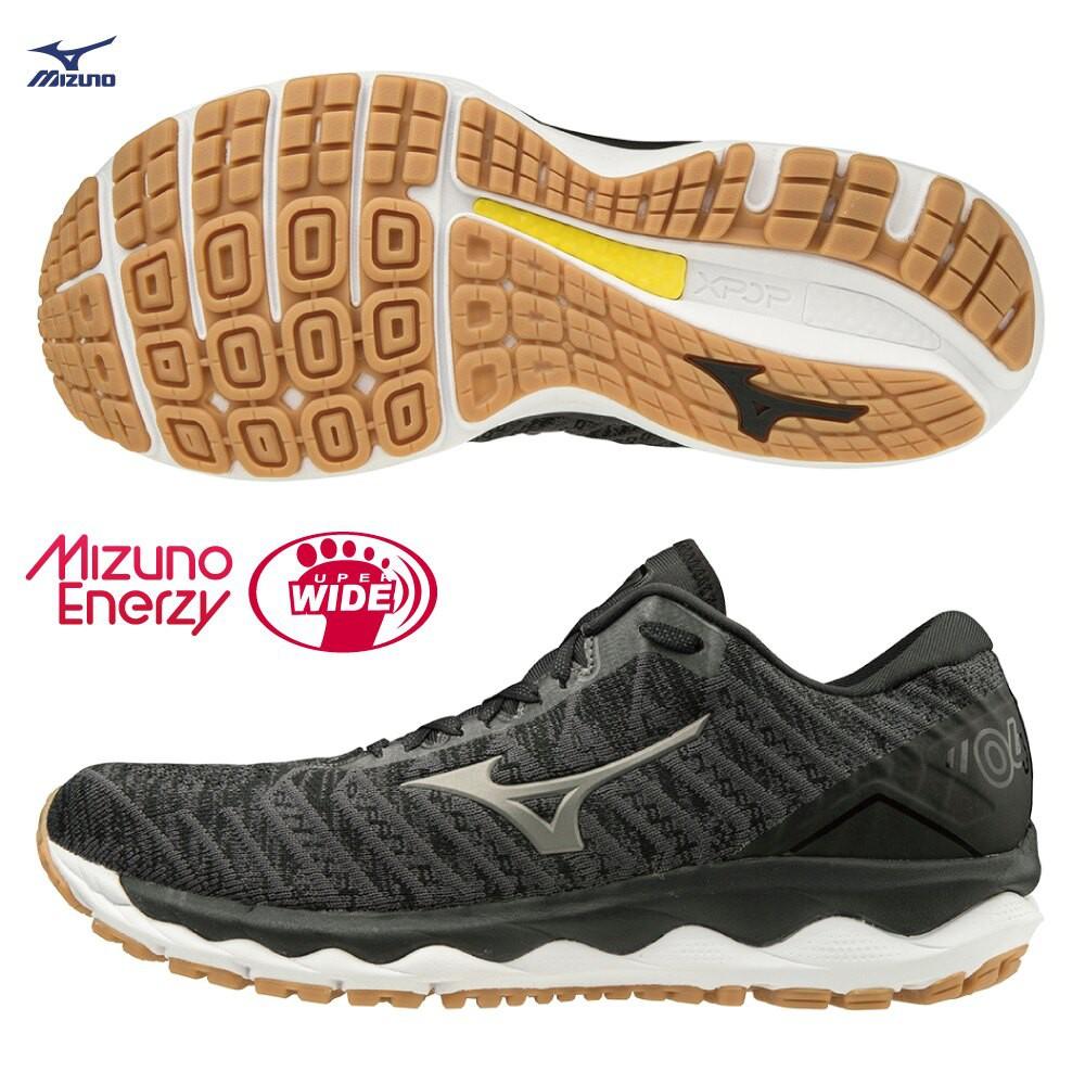 MIZUNO WAVE SKY WAVEKNIT 4 SW 男鞋 慢跑 超寬楦 輕量 黑【運動世界】J1GC203949