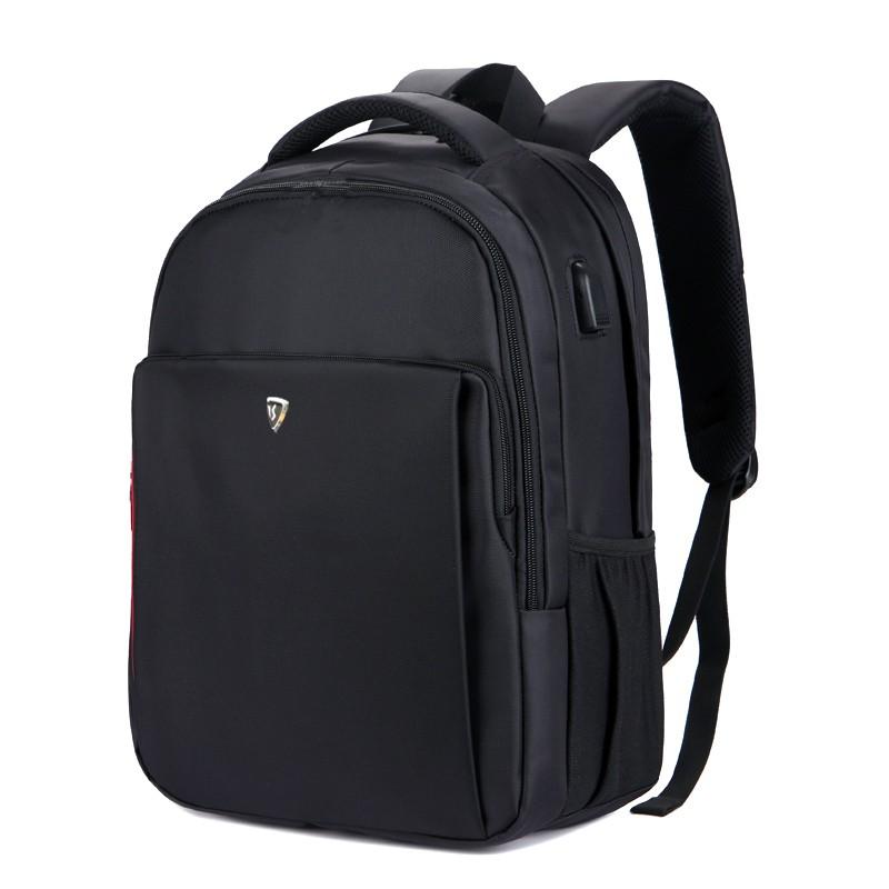 SUMDEX PON-1304BK 防盜USB充電多功能16吋電腦後背包黑色