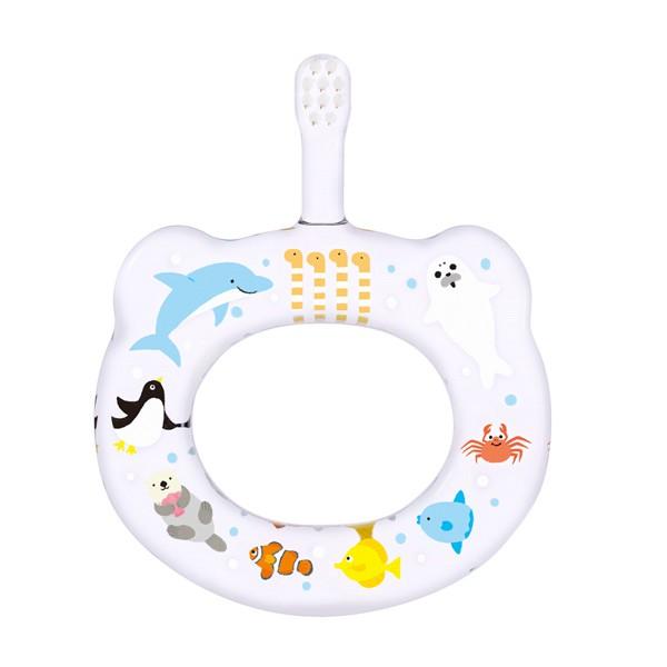 日本Hamico寶寶顧齒牙刷-樂園系列水族館