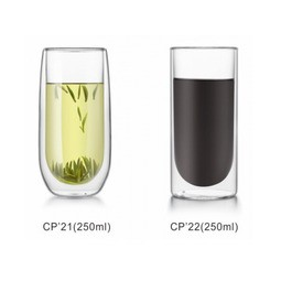 LINOX 雙層玻璃隔熱杯 手工吹製 耐熱玻璃圓角雙層杯 250ml