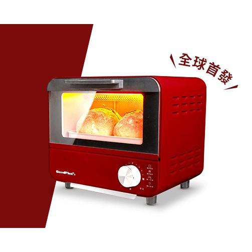 日本GOODPLUS+ MINI TOASTER經典時尚電烤箱 家樂福