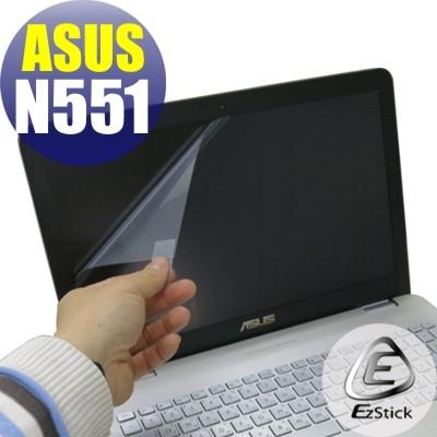 【EZstick】ASUS N551 N551J N551JB N551JK 靜電式筆電LCD液晶 螢幕貼 (鏡面防汙)