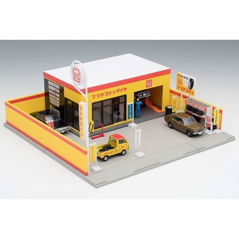 Tomica Tomytec 1/64 場景 05b 輪胎店 (普利司通)