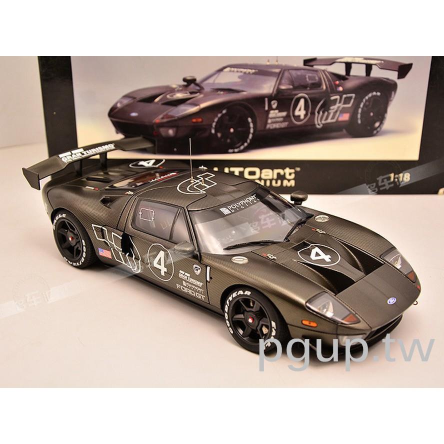 特惠奧拓 1:18 AutoArt 福特 FORD GT LM 4號 GT40 碳纖維  汽車模型p