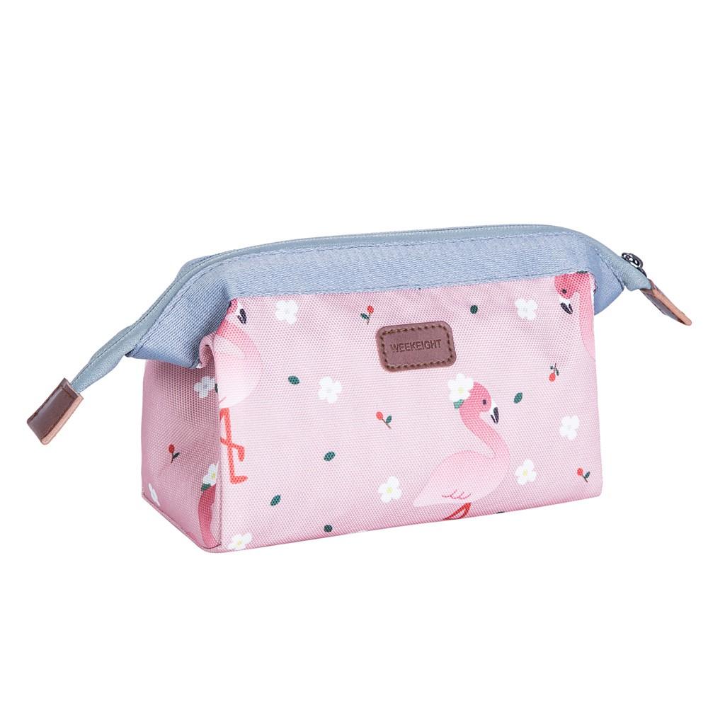 【WEEKEIGHT】動物花朵印花化妝包/水餃包/小物收納包