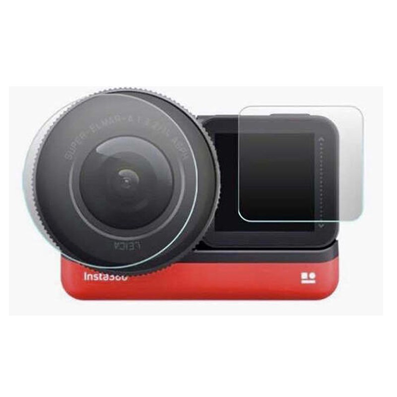 Insta360 ONE R 硬式保護貼【eYeCam】 2片裝 1吋鏡頭 + 觸控螢幕 9H 玻璃保護貼