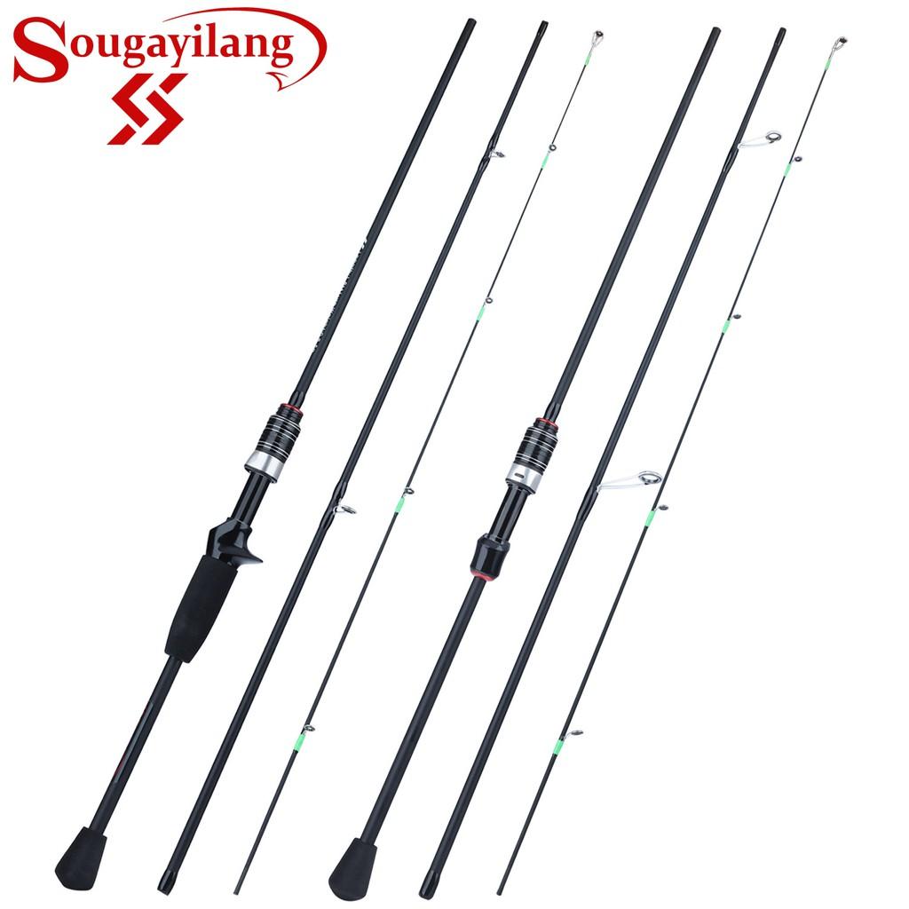 Sougayilang 1.8米 直柄釣魚竿 三節式 短竿 槍柄釣竿 路亞竿 海水 淡水路亞 驢魚 虎魚 岸拋