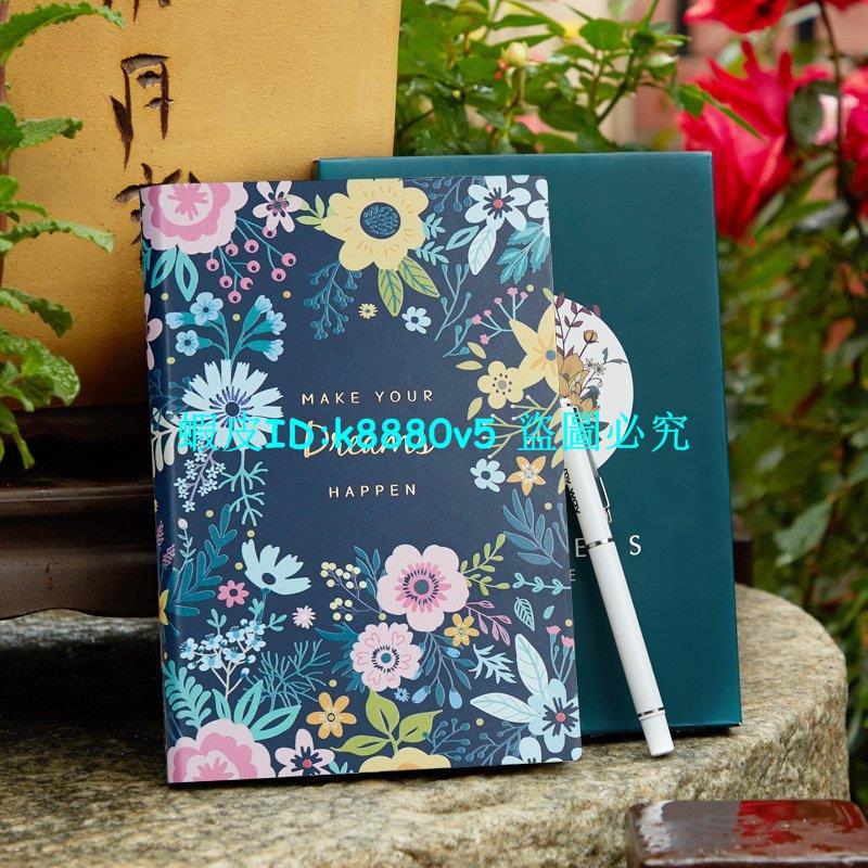 新品熱銷-好看的筆記本子記事本網紅文藝精致365天日記本簡約大學生個性創意女生款手賬本少女心韓國小清新膠帶手帳本