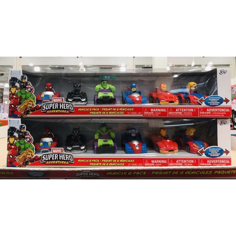現貨特價💥漫威Marvel 超級英雄賽車6入 迴力車 #1280456 蜘蛛人 綠巨人 美國隊長 鋼鐵人 黑豹 好市多