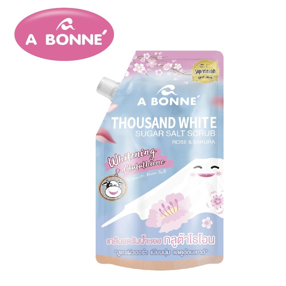 【A BONNE'】櫻花&雪玫瑰透亮身體去角質沐浴鹽
