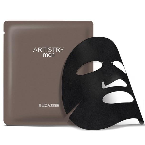 ✨ ARTISTRY 雅芝 男士活力 黑面膜 安麗 AMWAY 面膜 保養 乾燥肌 油肌 保濕 6片裝 公司貨