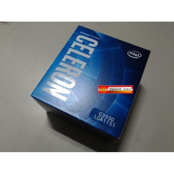 Intel Celeron 雙核心 G3930 G4400 正式版 1151腳位 內建顯示 速度2.9G 快取2M