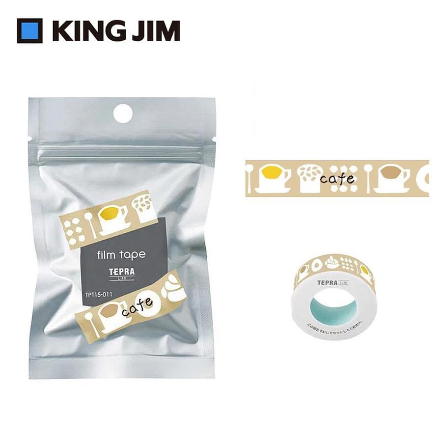 KING JIM TEPRA LITE熱感式標籤薄膜自黏膠帶/ 15mm/ 咖啡廳/ TPT15-011 eslite誠品
