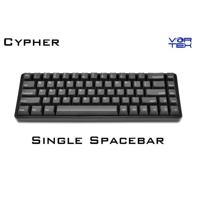 【Vortexgear】Cypher 65% 單空格 OEM PBT 雷雕正刻鍵帽 機械式鍵盤 Cherry MX