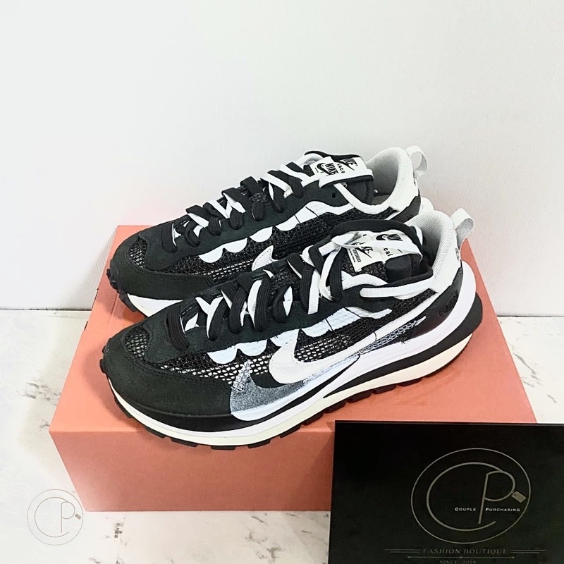 Sacai x Nike VaporWaffle 解構鞋 黑白【CPSHOP__】精品代購 正品