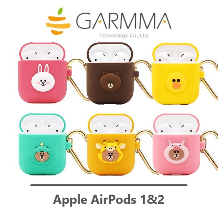 GARMMA AirPods 藍牙耳機盒保護套-熊大 / 兔兔 / 莎莉 / 叢林款 Line Friends 正版授權