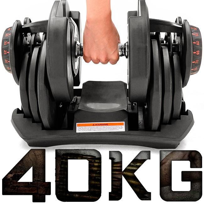 快速調整40公斤磅智慧啞鈴(17種可調式啞鈴)C194-1090重力設備40KG啞鈴槓鈴