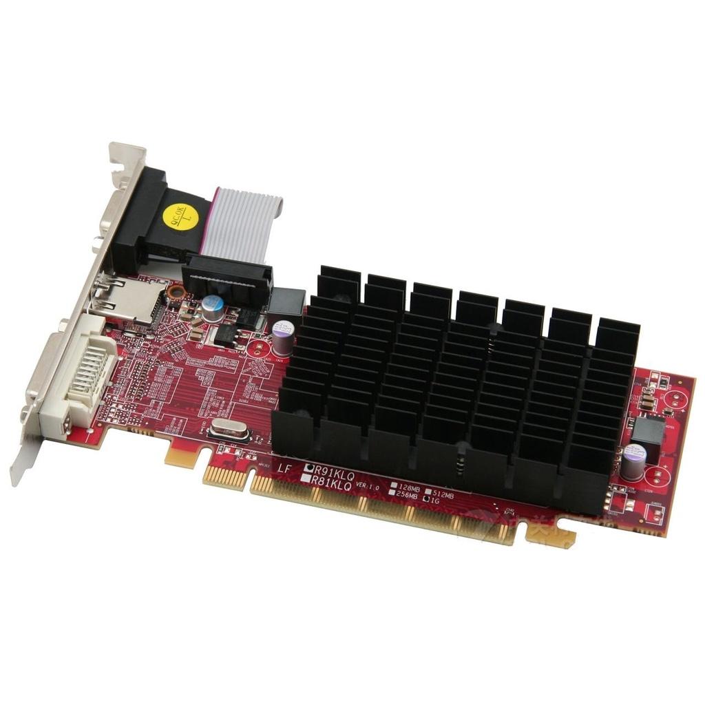 【拆机】拆機迪蘭恒進HD6450綠色版2G 64b D3 PCI-E顯卡半高刀卡靜音