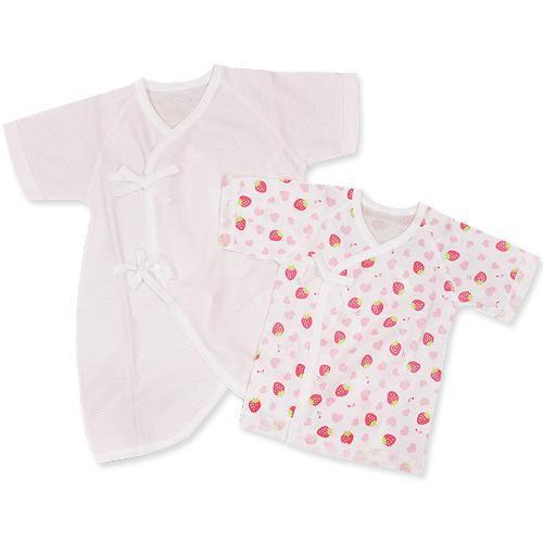 GMP BABY 日製草莓肚衣+毛巾兔裝(兩枚組)[免運費]