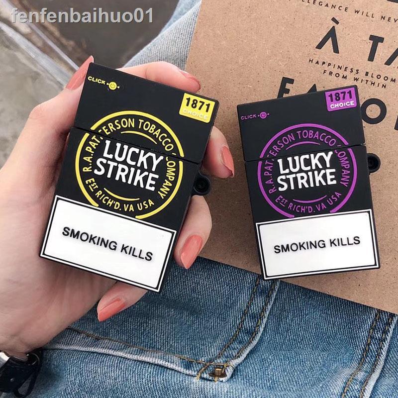 ✲❁香煙盒適用airpods保護套蘋果無線耳機套airpods2防摔收納殼硅膠