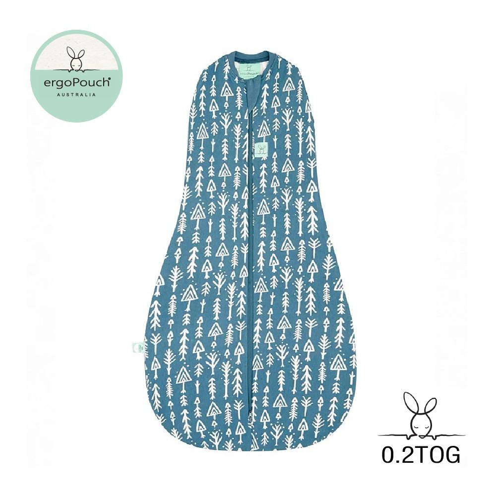 澳洲ergoPouch 二合一舒眠包巾 0.2TOG有機棉 針葉藍