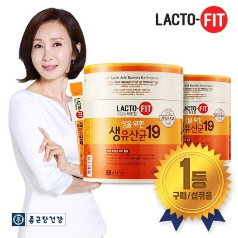 【預購】 韓國 鍾根堂 LACTO-FIT 19 腸健康生乳酸菌/ 益生菌 180入橘色桶裝(upgrade升級版)