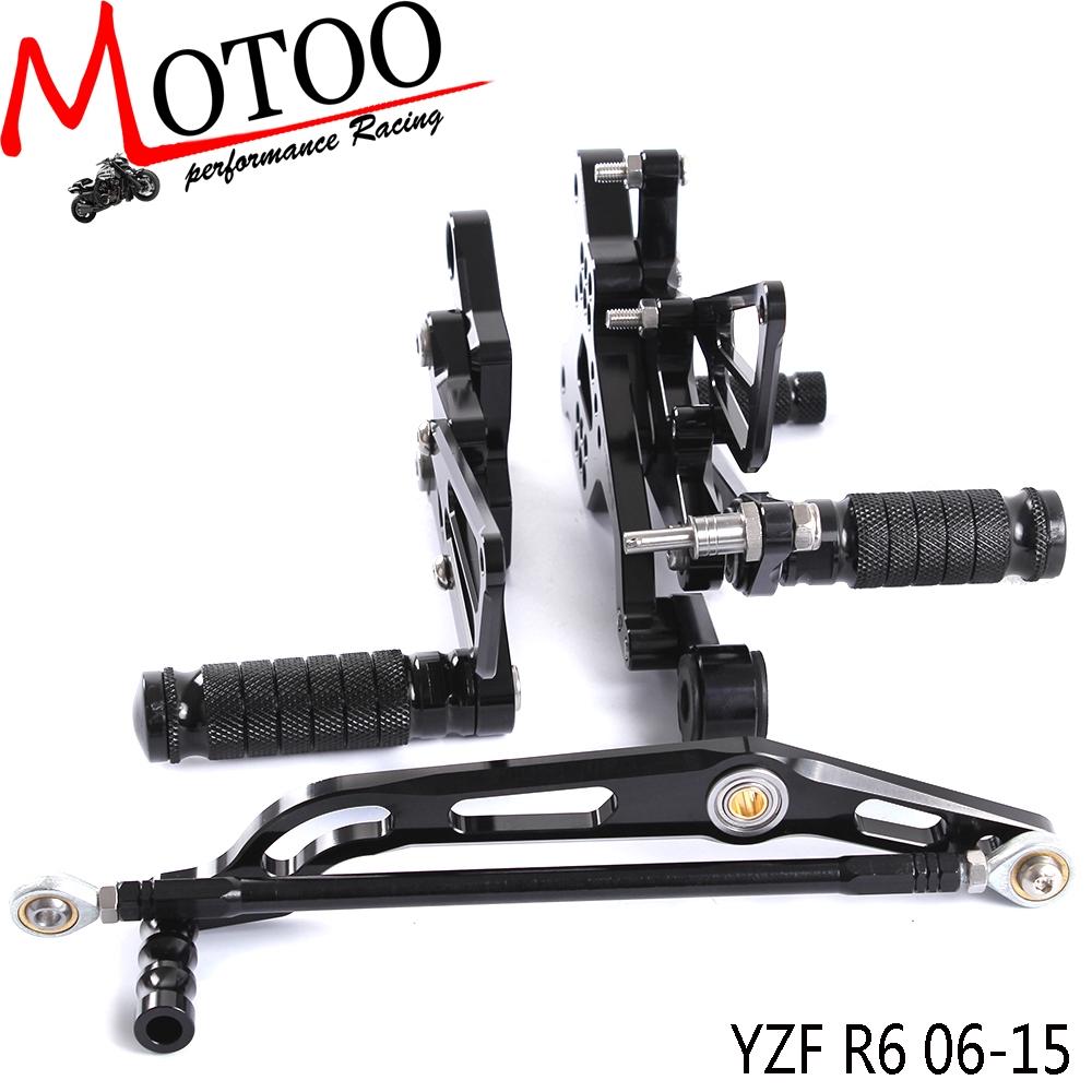 適用 YAMAHA 雅馬哈YZF-R6 R6 2006-2015 後移腳踏
