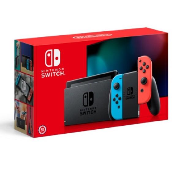 Nintendo Switch 任天堂 電光藍&紅 Joy-Con 主機 續航力加強版。台灣公司貨。全新未拆