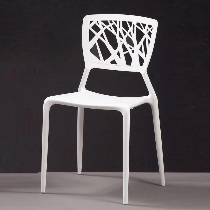 【MA538-14】珍尼絲造型椅(白)