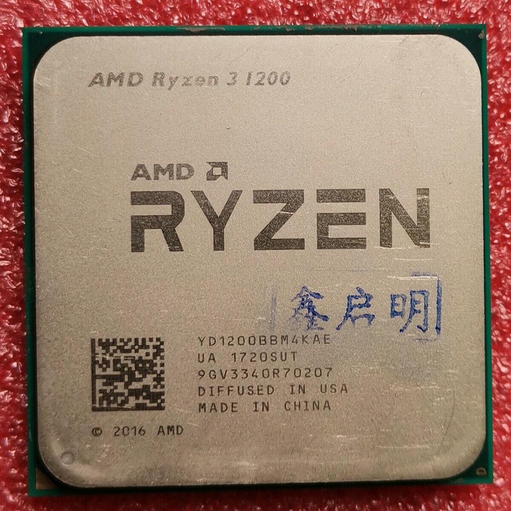 【葉英】100% 原裝 AMD Ryzen 3 1200 R3 1200 CPU 3.1 GHz 4