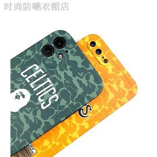 【現貨】♟✓潮牌BAPE湖人iPhone12手機殼11Promax直邊軟殼8Plus科比蘋果XR男7