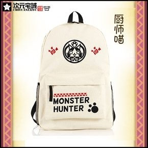 【APPS STORE】前三免運 魔物獵人 艾露貓 艾路貓 Monster Hunter MH 書包 包包