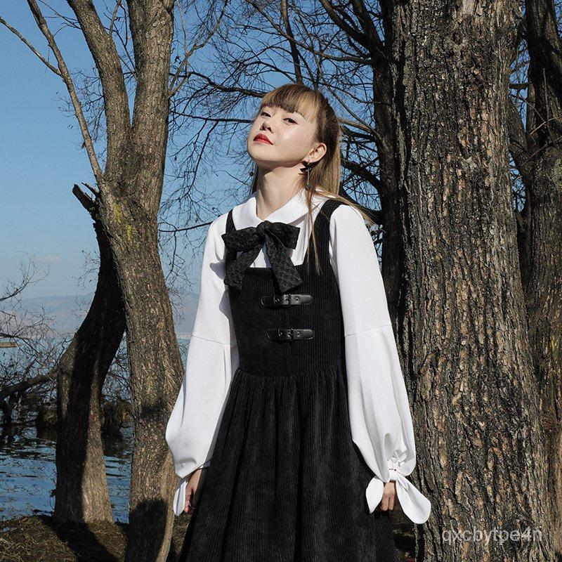 【Mis「繆緦」】Lolita服飾白色元寶襯衫女新款2021年寬鬆日系娃娃領上衣設計感小眾鹽田皆可 ltO8