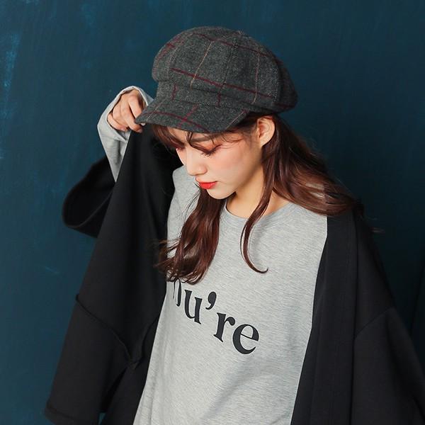 IN SHOP入秋時尚格紋報童帽-共3色【KT27128】