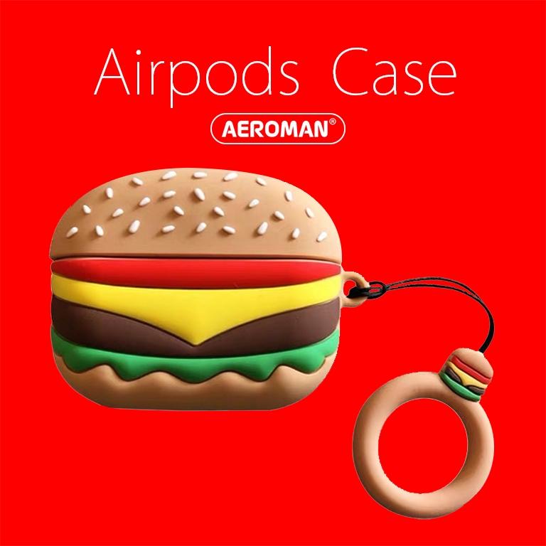 airpods pro 保護套 漢堡 速食 薯條 柴犬 可樂 秋田狗 鈴鐺 拍立得 麻將 珍奶 DJ