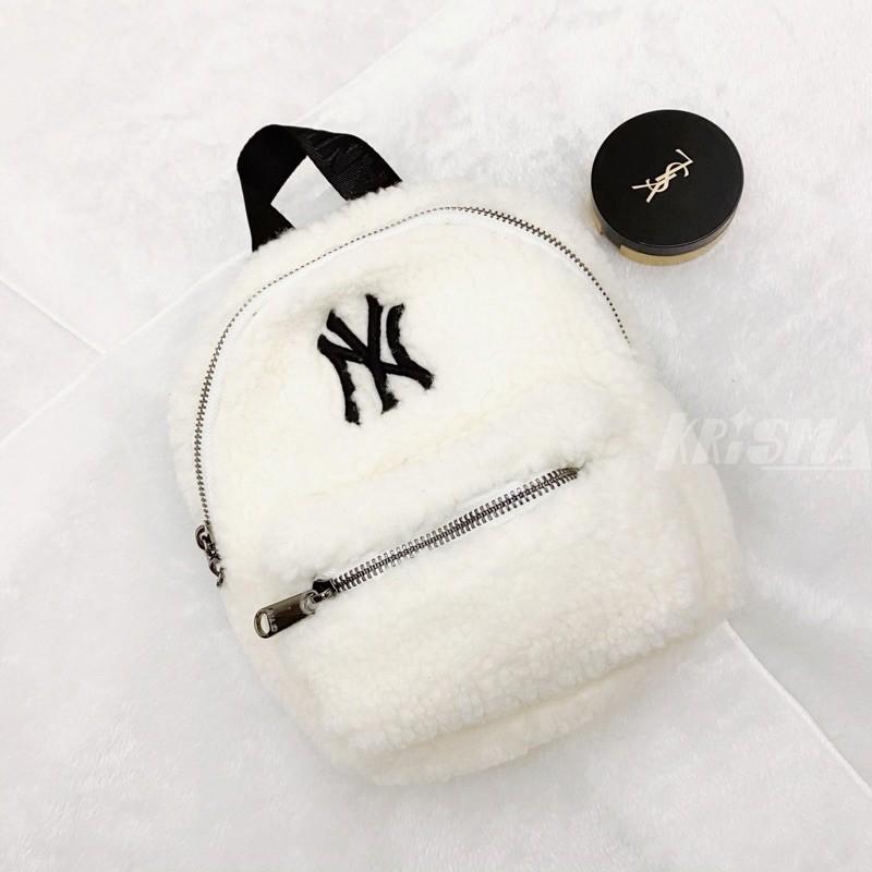 🇰🇷最新款韓國MLB羊羔絨後背包 肩背包 洋基隊經典Logo 韓國潮牌