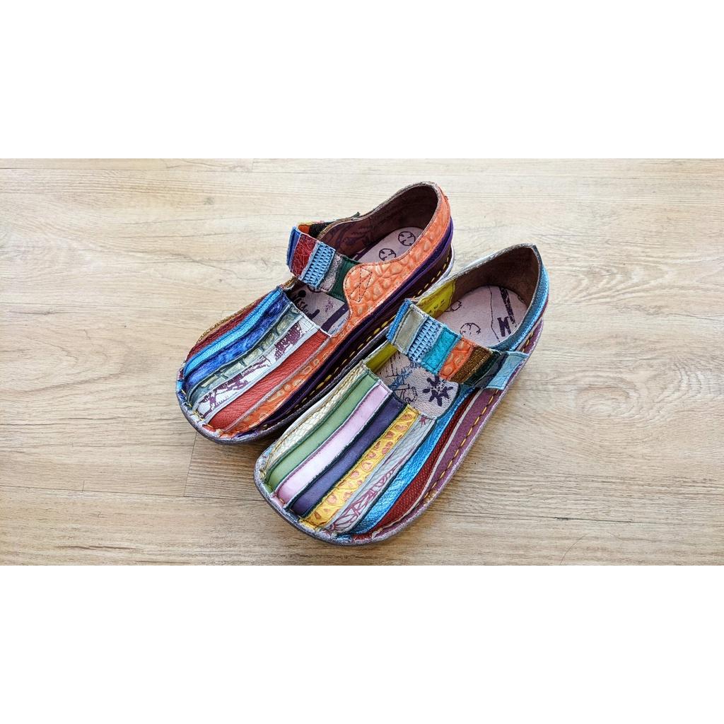 [鸚鵡鞋鋪]Macanna 21.5出清 麥坎納鬱金香系列直切彩虹鞋 植物染手染犛牛皮(女)