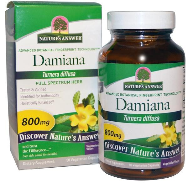 [美國供貨] Nature's Answer,達米阿那葉,800mg,90粒素食(美國原廠正貨)Damiana,透納樹葉