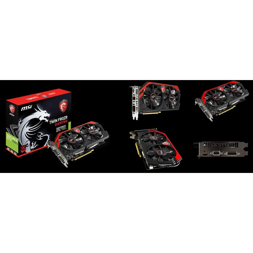 GTX750ti 2G MSI紅龍版 免插電 (N750 Ti GAMING 2GD5/OC)