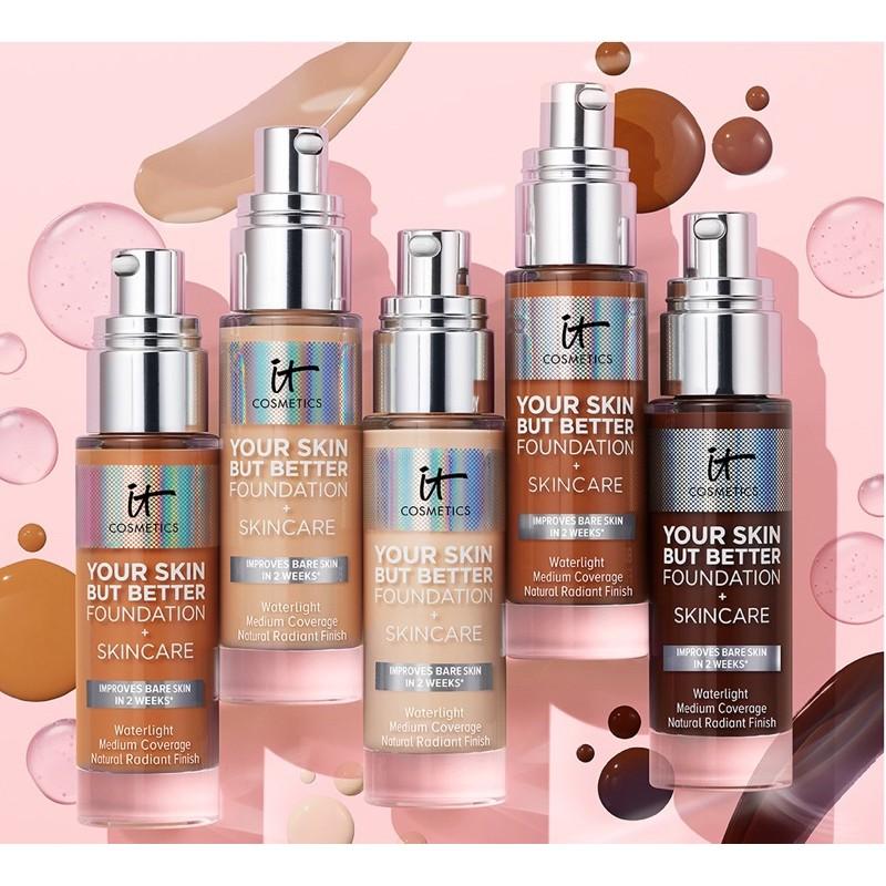 預購✨ IT Cosmetics Your Skin But Better 完美膚質保養型粉底液 玻尿酸保濕 中度遮瑕
