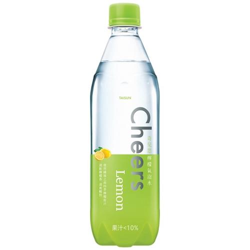 泰山 Cheers Lemon 檸檬氣泡水(590mlX4瓶/組)[大買家]