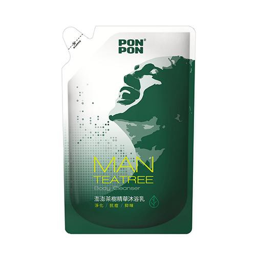 澎澎MAN淨化沐浴乳-茶樹精油補充包700g【愛買】
